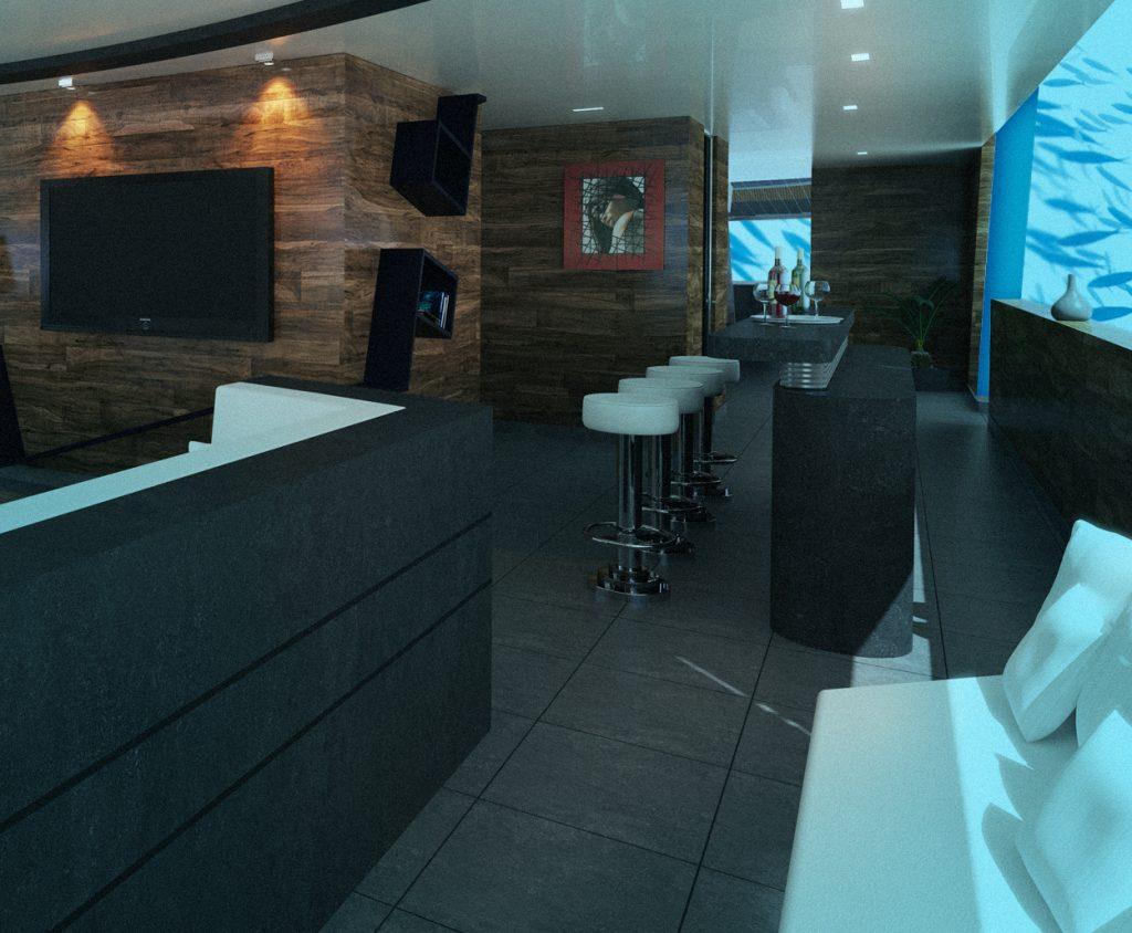 Deep Submarine Living Room