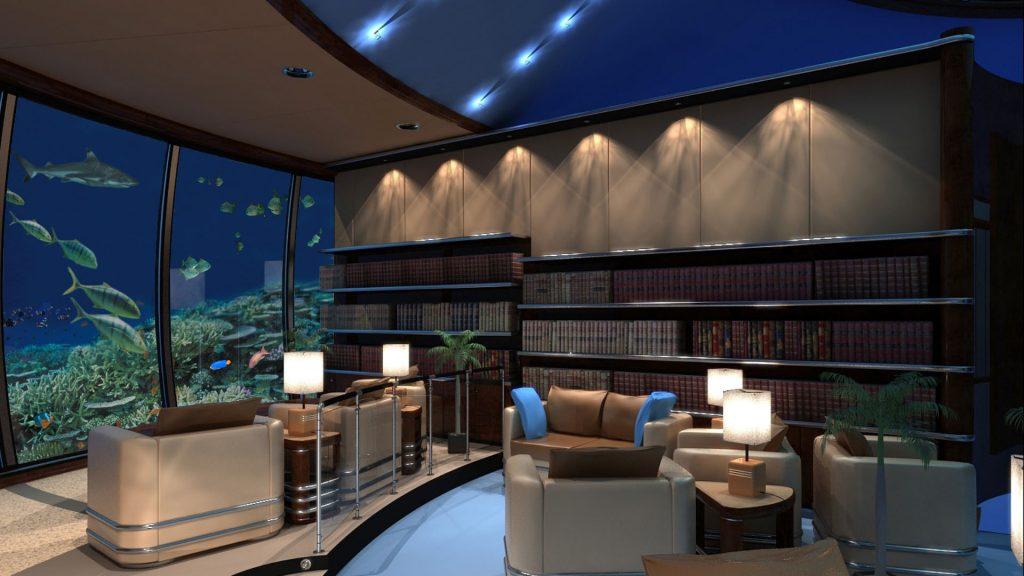 Undersea Library - Luxushotel