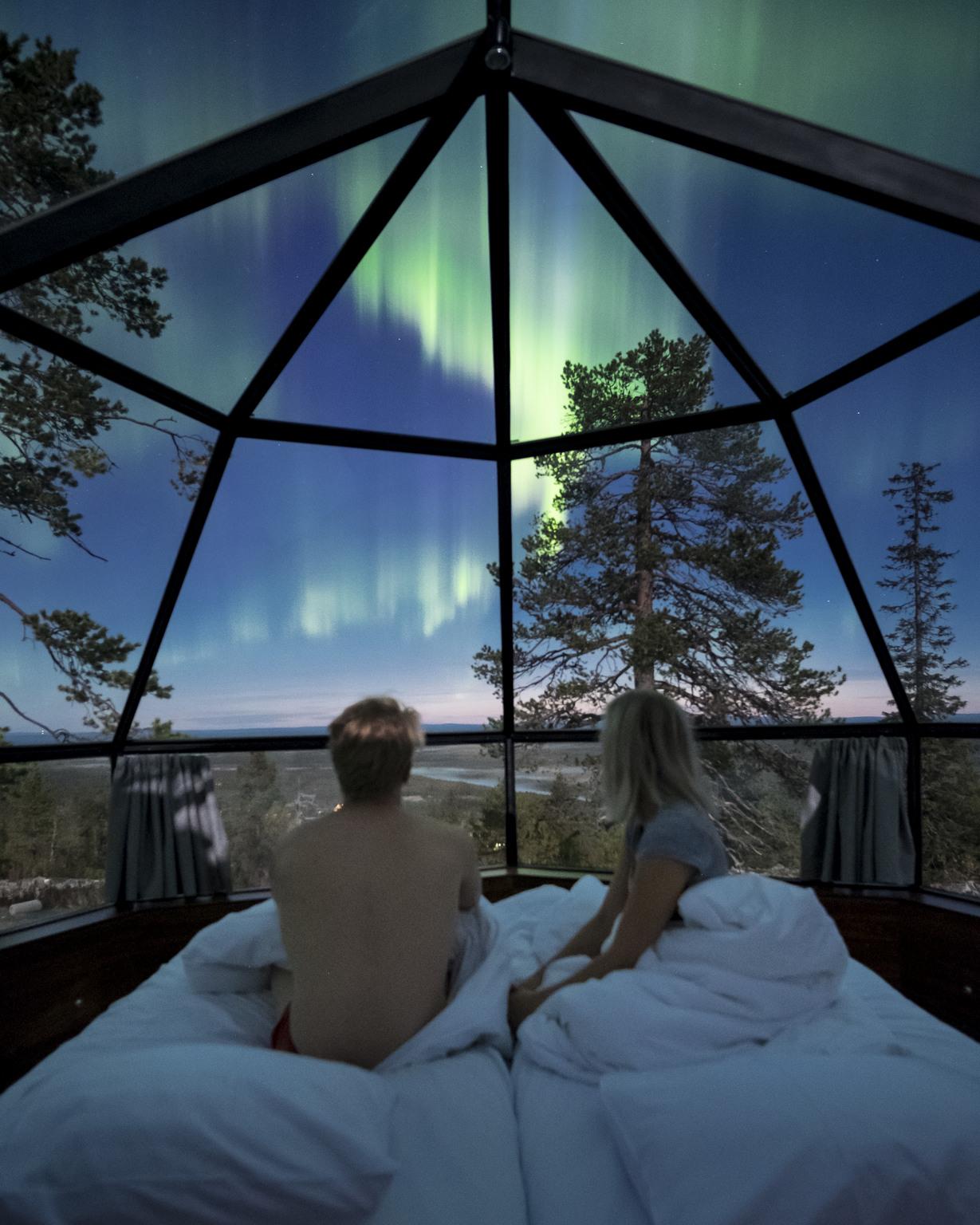 polarlichter island iglu hotel