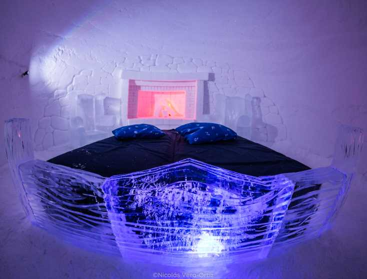 Sleep in a luxury igloo