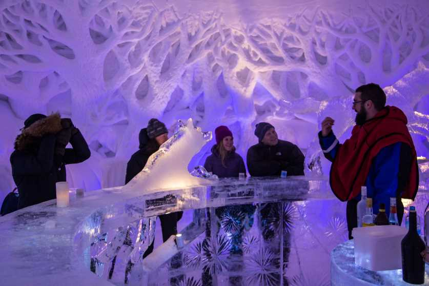 enjoy some drinks at the icebar