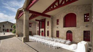Madrid Winery Wedding set up